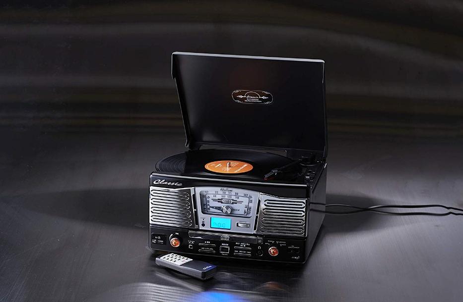 アメリカンポップス調レコードプレーヤー/TCD-682E/BLACK/RED