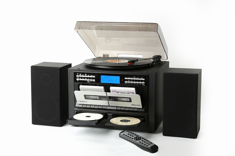WカセットWCD Bluetooth録音機能搭載プレーヤー/TS-6159