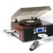 鏡面ピアノ調仕上げレコードプレーヤー/TS-7885/ブラック・ブラウン